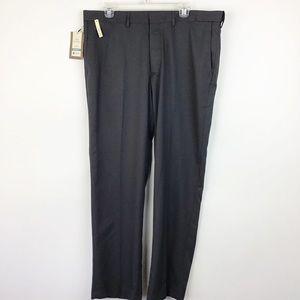 Haggar Straight Dress Pants Gray 38x32 (1809)